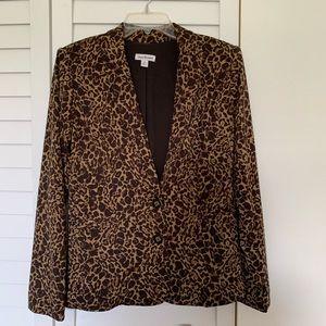 Joan Rivers Blazer Jacket Cheetah print